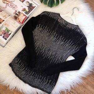 Eileen Fisher Sweaters - Eileen Fisher | Light Knit Contrast Sleeve Sweater